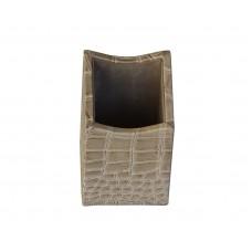 Protacini Breeze Beige Italian Patent Leather Pencil Cup